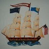 Appliqued Clipper Ship