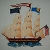 Appliqued Clipper Ship