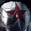 The star on the Winter Soldier's metal arm