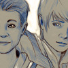My fanart cropped, portraying young Loki and Thor.