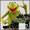 Kermit with a typerwriter