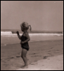 Mira at age 4 on the beach in Santa Monica