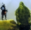 Gawain facing the Green Knight
