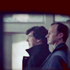 Mycroft and Sherlock in profile