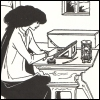 woman at writing desk