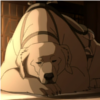 "Naga, a polar bear-dog, from ""The Legend of Korra"""