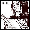 Severus Snape reading