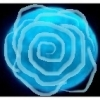 A blue tinted moon with a rose outline drawn on it