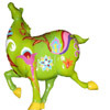 Emmuzka's icon, a colorful green fat horse