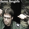 Daniel in handcuffs, with caption: Damn Fangirls