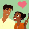 Tiana and Naveen (there two are so cute)