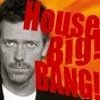 Hugh Laurie as House; text &quot;House Big Bang!&quot;