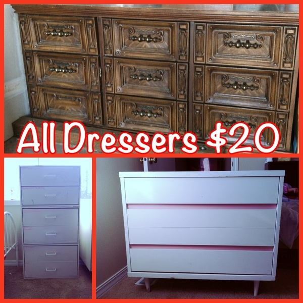 Dressers each $20 MUST GO