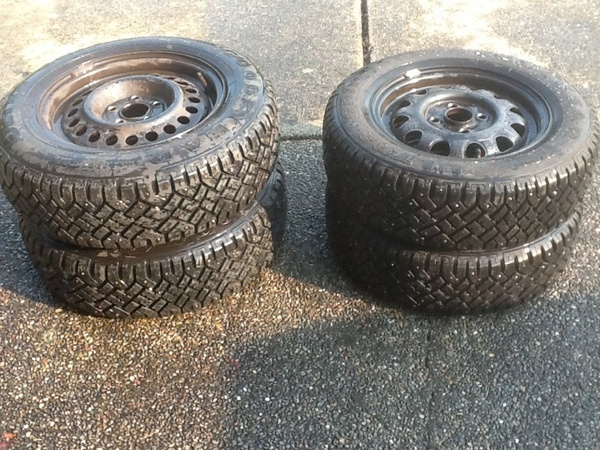 2ea 175/70 R 13  snow tires. 2 ea 185/70 R 14 studded snow tires