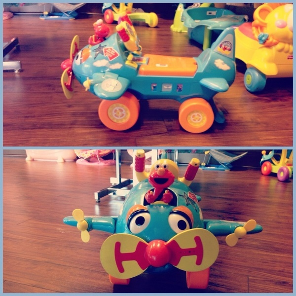 Elmo's world activity airplane