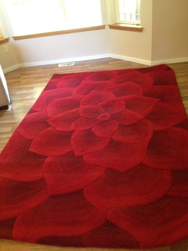 Rose Tufted Rug Home Decor