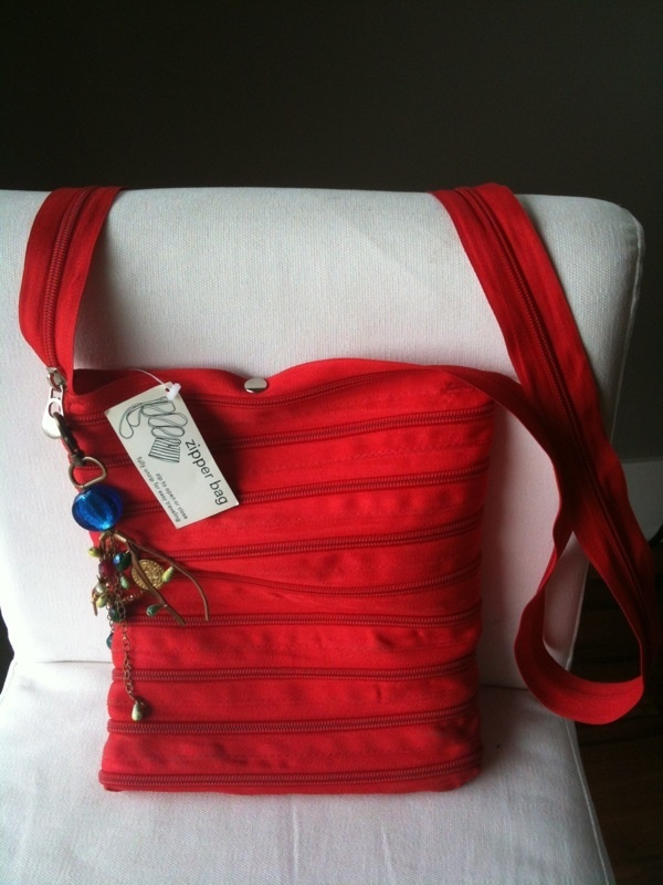 Red Zipper Bag