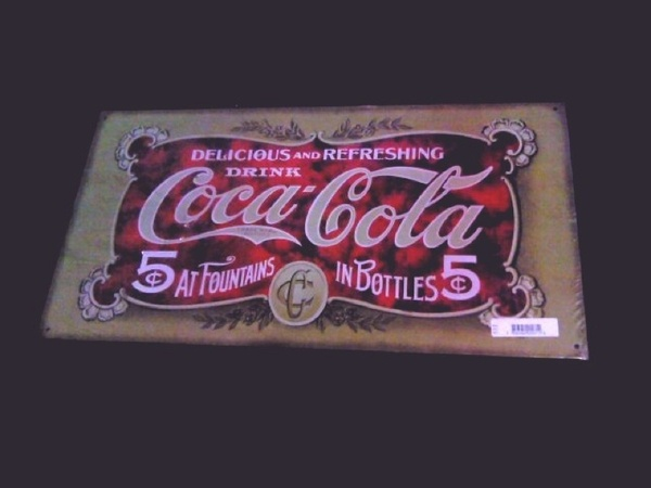 Old fashioned style coca-cola sign
