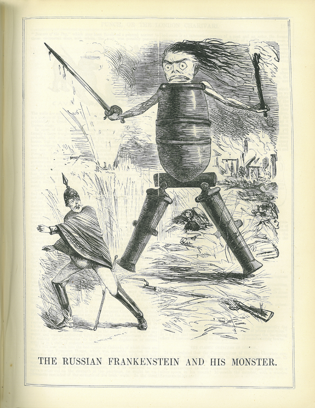 'The Russian Frankenstein and His Monster' in Punch, or the London Charivari
