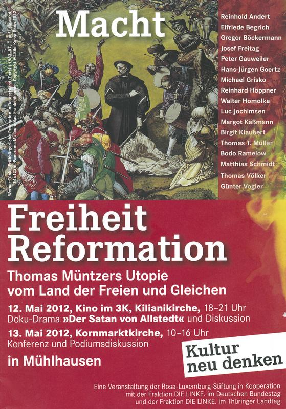 Macht Freiheit Reformation