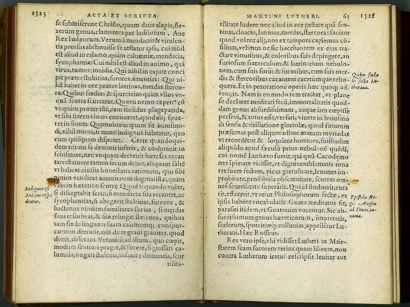 Historia ioannis cochlaei de actis et scriptis Martini Lvtheri Saxonis chronographice