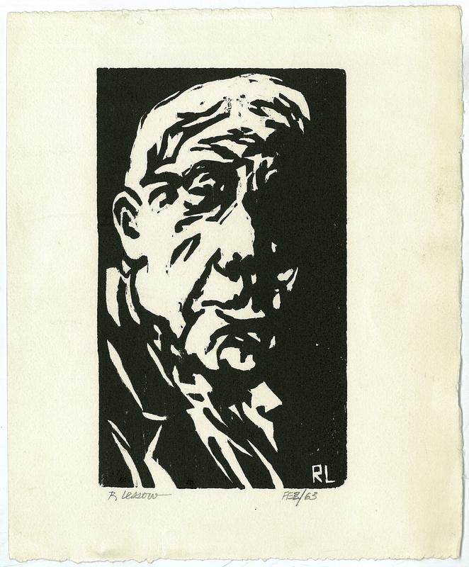 Robert Frost woodcut
