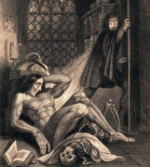 Frontispiece image  of Frankenstein, 1831