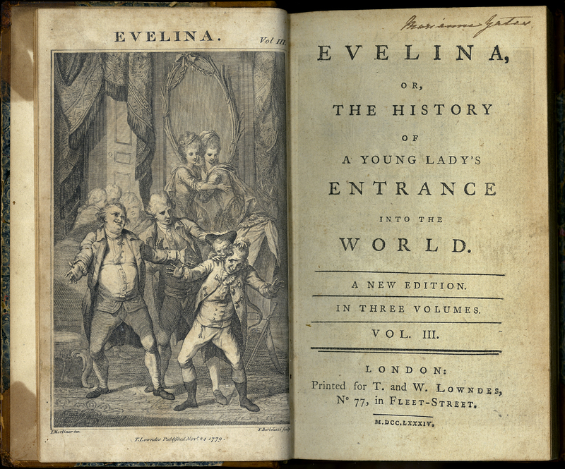 Evelina, or, The History of a Young Lady's Entrance into the World. Volume III