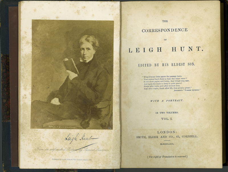 The Correspondence of Leigh Hunt. Volume I