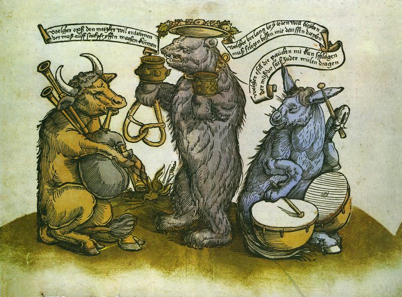 Der Bärentanz [Bear Dance, Augsburg], 1523 from Flugblatter der Reformation und des Bauernfrieges