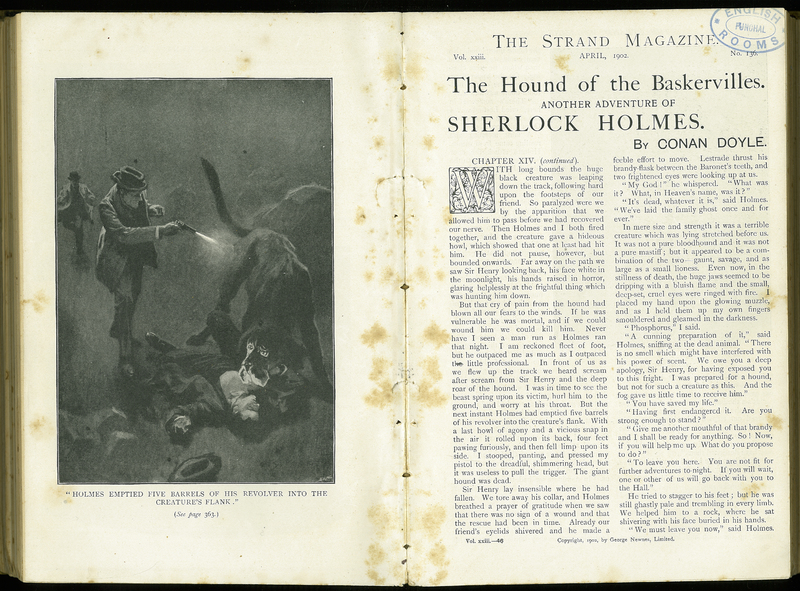 'The Hound of the Baskervilles' in The Strand Magazine, Vol. XXII, no. 136