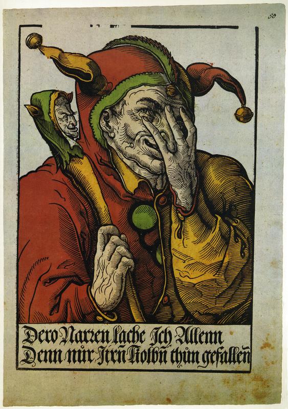 'Der Schalksnarr' [The Fool], 1540. Facsimile from Flugblatter der Reformation und des Bauernfrieges