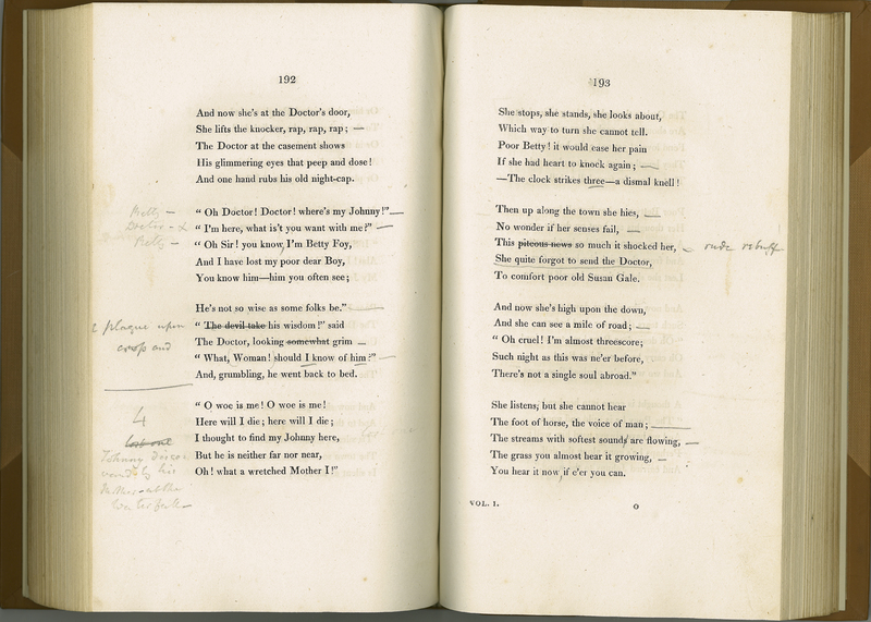 Poems by William Wordsworth: including Lyrical Ballads, and the Miscellaneous Pieces of the Author. Volume I