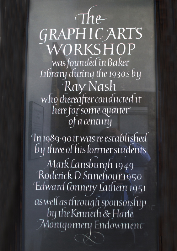 Graphic Arts Workshop sign