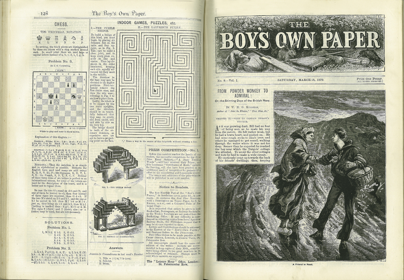 'From Powder Monkey to Admiral' in The Boy's Own Paper, Vol. I, no. 9