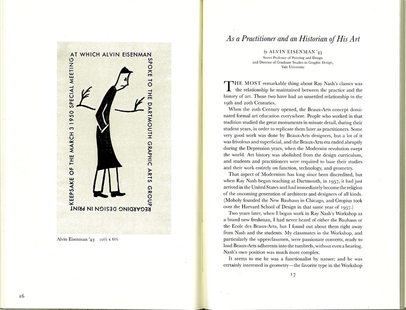 'As a Practitioner and an Historian of His Art' by Alvin Eisenman in Ray Nash and the Graphic Workshop at Dartmouth College.