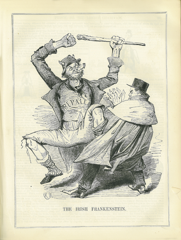 'The Irish Frankenstein' in Punch, or the London Charivari