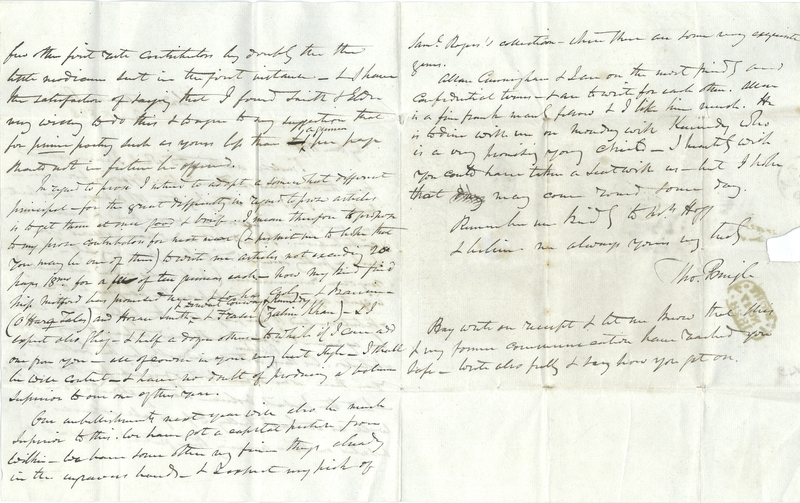 Thomas Pringle to James Hogg