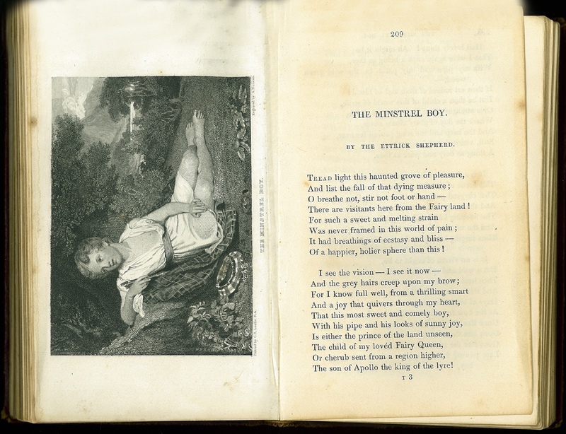 'The Minstrel Boy' in Friendship's Offering: A Literary Album, and Christmas and New Year's Present