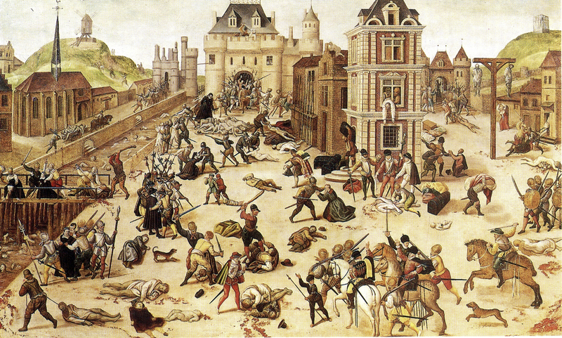 Painting of Bartholomew Day Massacre