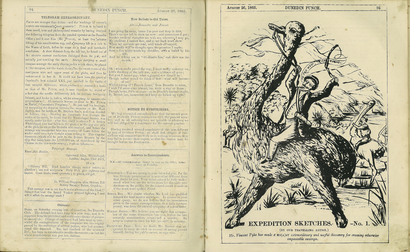 'Expedition Sketches – No.1' in Dunedin Punch