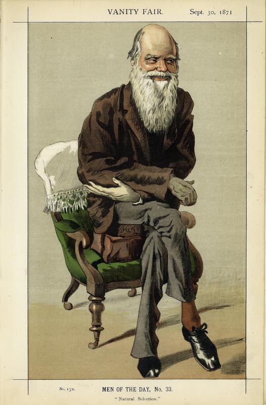Charles Darwin, in Vanity Fair