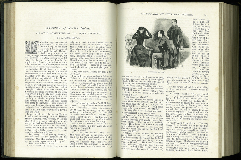 The Adventure of the Speckled Band', in The Strand Magazine, Vol. III
