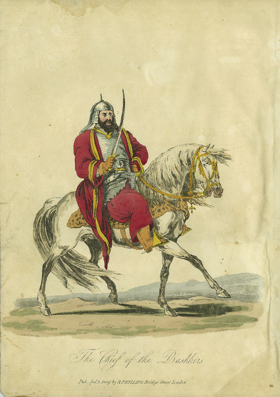 'The Chief of the Bashkirs' from Travelling Sketches in Russia and Sweden during the years 1805, 1806, 1807, 1808. Volume II, second edition