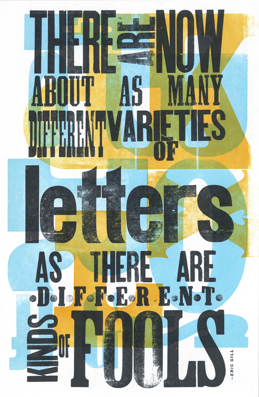 There are now about as many…  from Essay of Typography