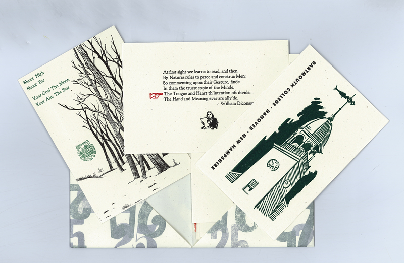 Dartmouth College Book Arts Workshop Keepsake