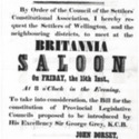 Public Meeting!...To take into consideration, the Bill for the constitution of Provincial Legislative Councils proposed to be introduced by His Excellency Sir George Grey, K.C.B. poster