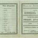 Highland Society of Southland 14th Grand Annual Concert Programme
