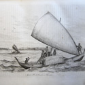 Canoe with sail DUrville cab 15.jpg