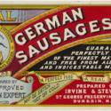 Real German Sausages label